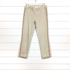 Chino by Anthropologie Relaxed Striped Khaki Pants
